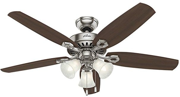 Hunter-53237-Builder-Plus-52-Inch-Ceiling-Fan-with-Five-Brazilian-Cherry-Harvest-Mahogany-Blades-and-Swirled-Marble-Glass-Light-Kit-Brushed-Nickel